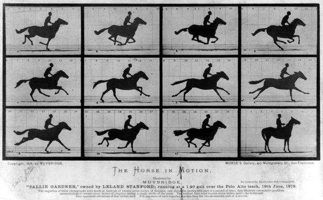 Eadweard Muybridge creates first Moving Image