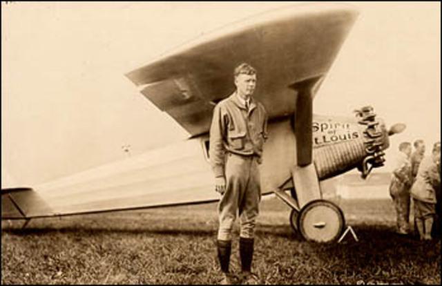Lindbergh begins his transatlantic flight