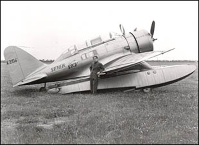 Test flight of Seversky's first airplane, the SEV-3.