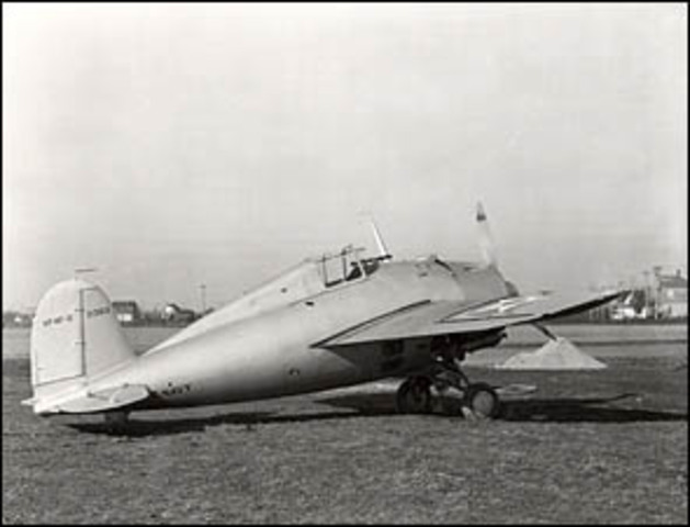 First delivery of the F4F Wildcat.