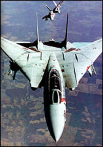 Flight of the first Grumman F-14 Tomcat.