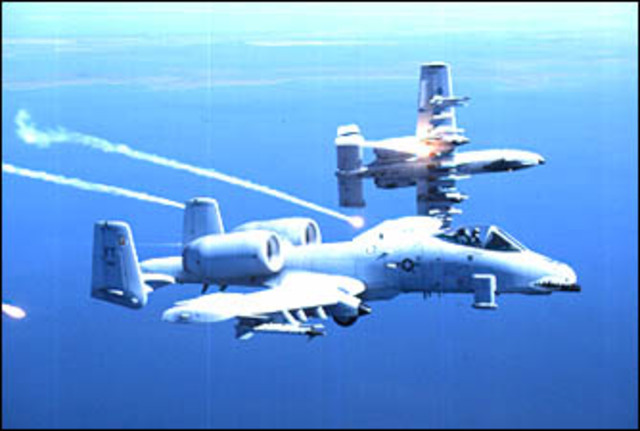 Republic A-10 becomes close air support aircraft for Air Force
