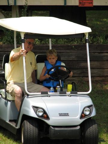 I drove Grandpa's golf cart