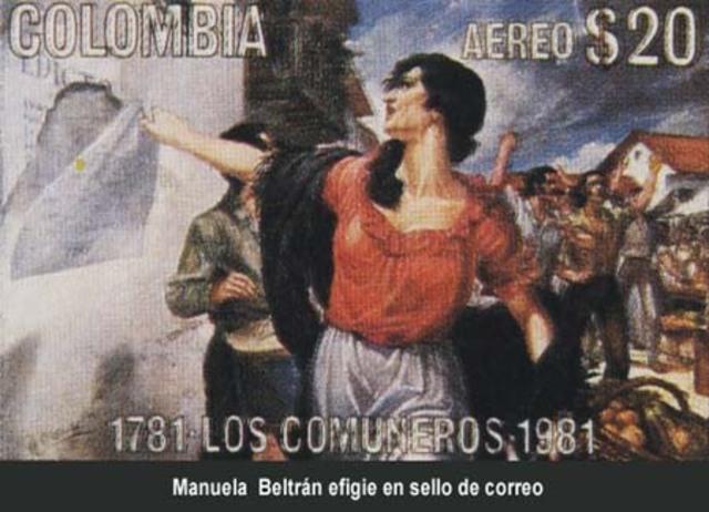 Manuela Beltrán rompe el edicto referente a las nuevas contribuciones