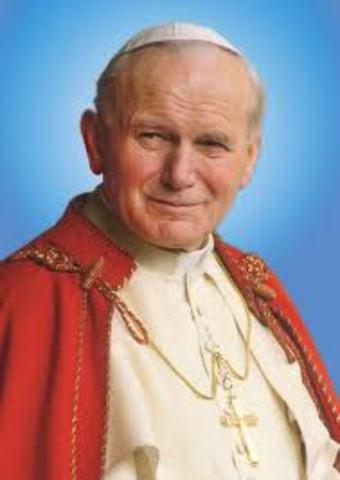 el papa juan pablo segundo visita a colombia