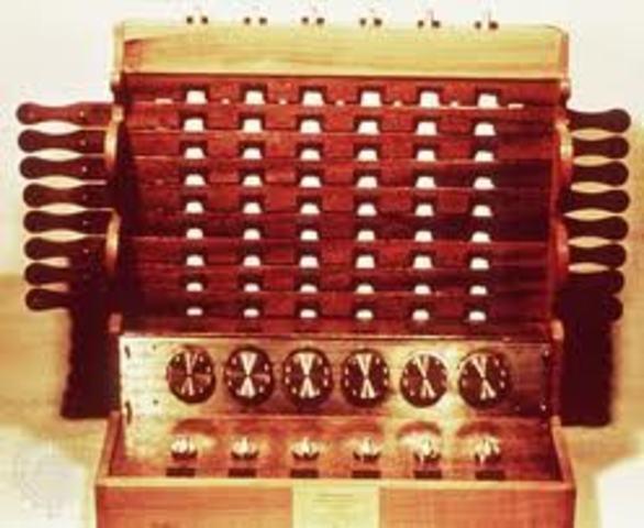 La primera calculadora mecánica