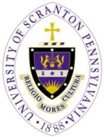 Michelle Enters College at the University of Scranton