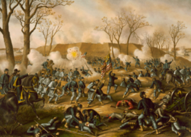 """General Ulysses S. Grant captures Fort Henry, Tennessee. Ten days later he accepts the """"unconditional and immediate surrender"""" of Fort Donelson. These victories open up the state of Tennessee for Union advancement."""