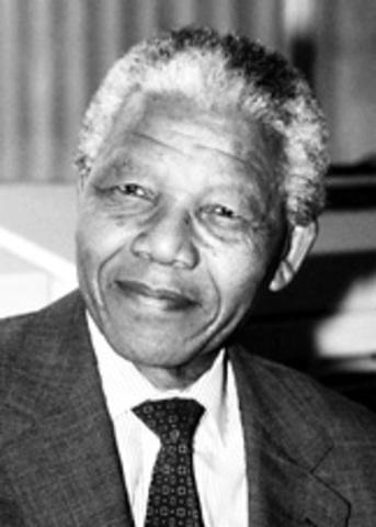 Nelson Mandela is elected as President.