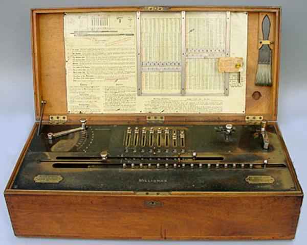 La primera máquina de multiplicación automática