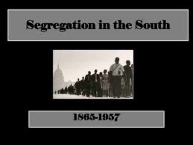 Compulsory segregation is announced.