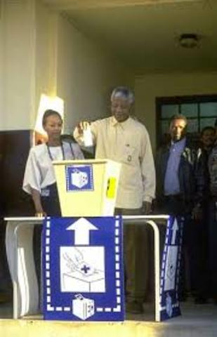First democratic elections take place.