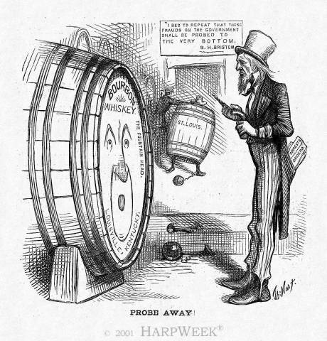 The Wiskey Ring Scandal - one of the Many scandals to plague Grant's terms of office