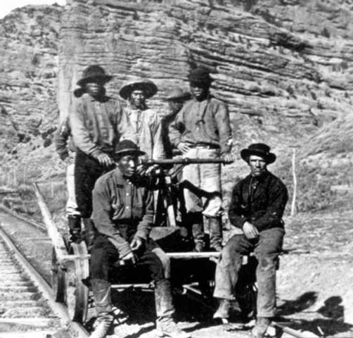 1st Transcontinental Railroad is Completed
