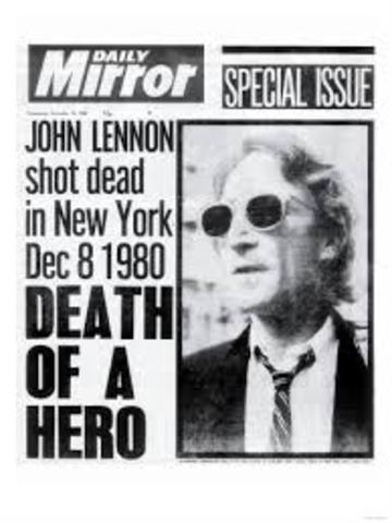 John Lennon is shot and killed