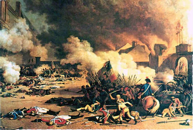 The Storming of the Tuileries and massacre of the Swiss Guard