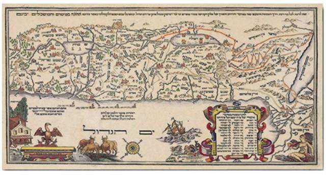 מפה 6 ארץ ישראל מפת אברהם יעקב