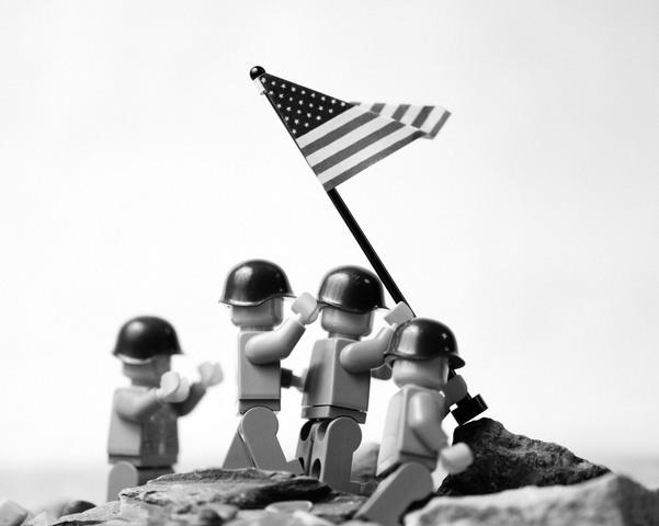 Mike Stimpson - Raising flag on Iwo Jima