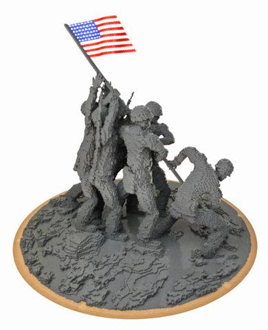 Nathan Sawaya - Iwo Jima Replica