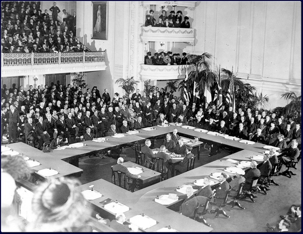 The Treaty of Versailles is signed.