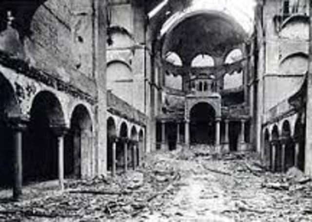 Kristallnacht, 'Crystal Night'.