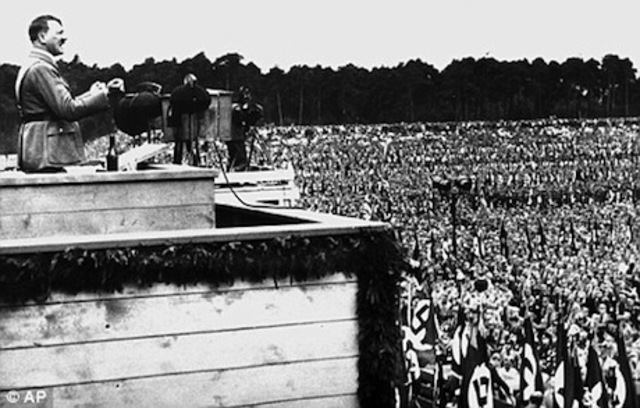 HITLERS FIRST RALLY