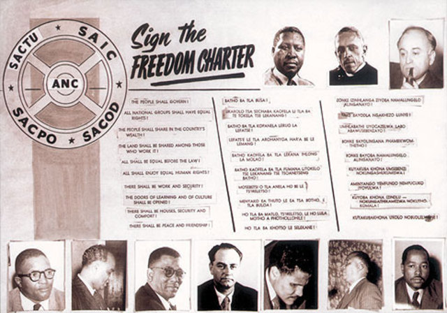 Freedom charter adopted by ANC