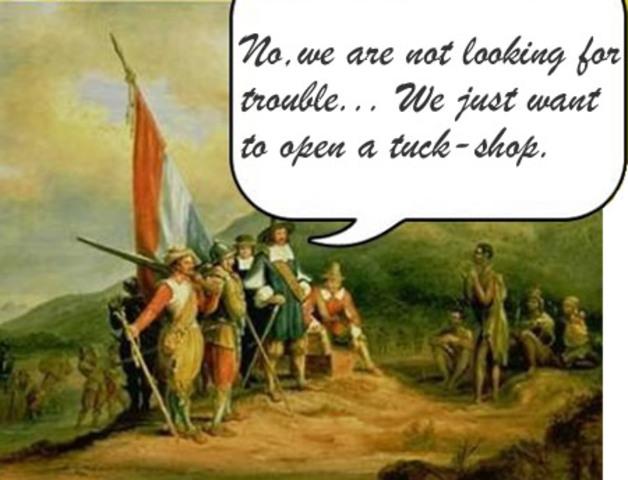 Jan van Riebeeck arives in the Cape