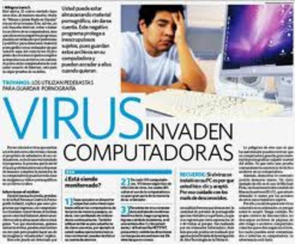 Internet afetado por un virus.
