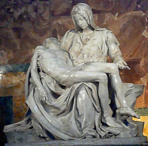 Pieta by Michelangelo Buonarroti.