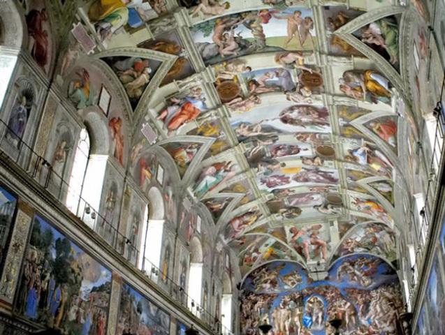 Sistine Chapel Ceiling by Michelangelo Buonarroti.