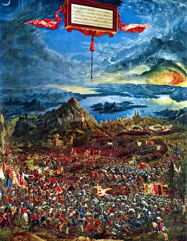 The Battle of Issus by Albrect Altdorfer