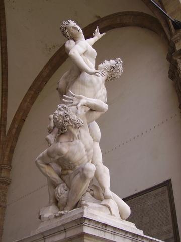 Rape of a Sabine by Giovanni da Bologna