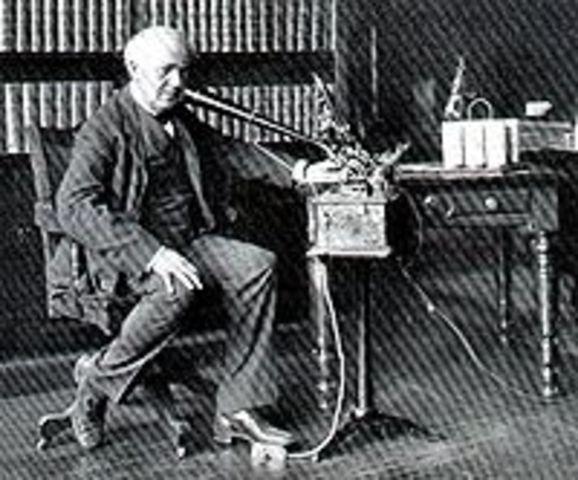 la bombilla. Thomas Edison