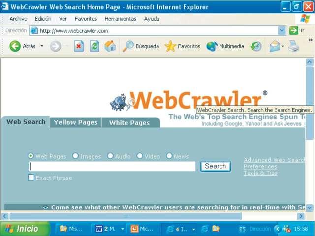 WebCrawler (Primer buscador basado en textos)