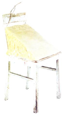 Joseph Beuys - Chaise avec coin de graisse