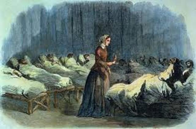 Florence Nightingale en la guerra Crimea