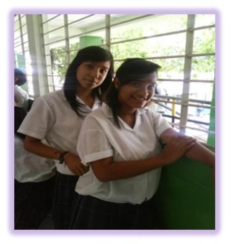 con mi mejor amiga del colegio