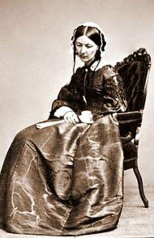 Florence Nightingale y la cruz roja real
