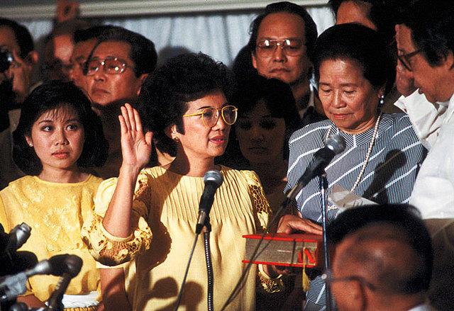 Election of Corazon Aquino