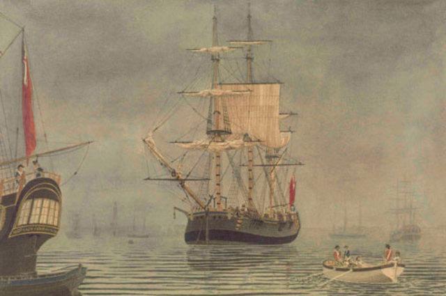 First Fleet arrives at Botony Bay
