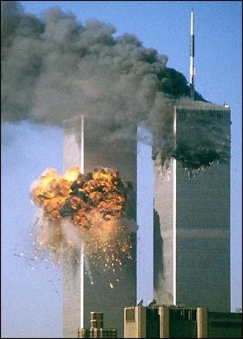 World trade center was crashed into with a plane.