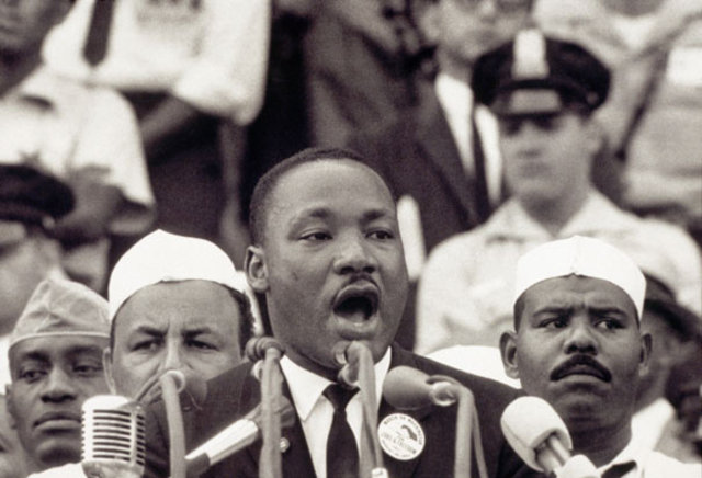 Martin Luther King Jr.'s i have a dream speech.