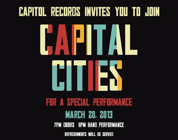 Capitol Records and Capital Cities Secret Show