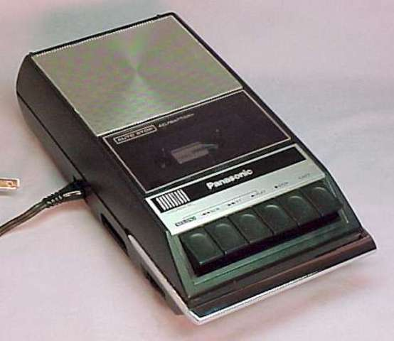 First portable audiotape recorder