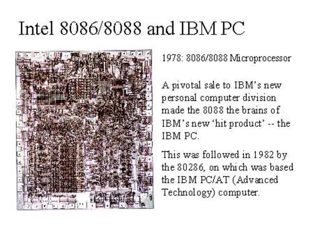 El 8088, el 8086 y la IBM PC.