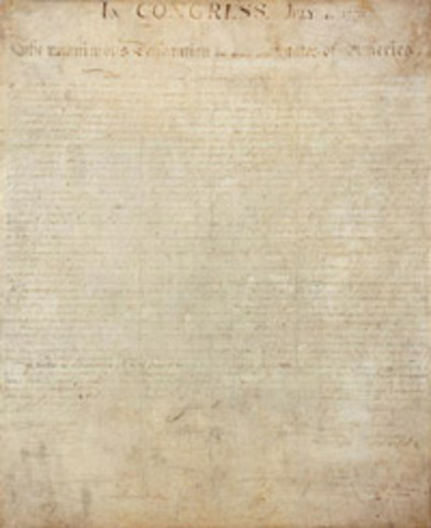 The signing of the Declaration of independance