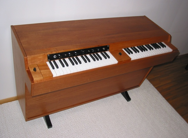 Mellotron is the first keyboard to actually you the sound of the actual instrument.