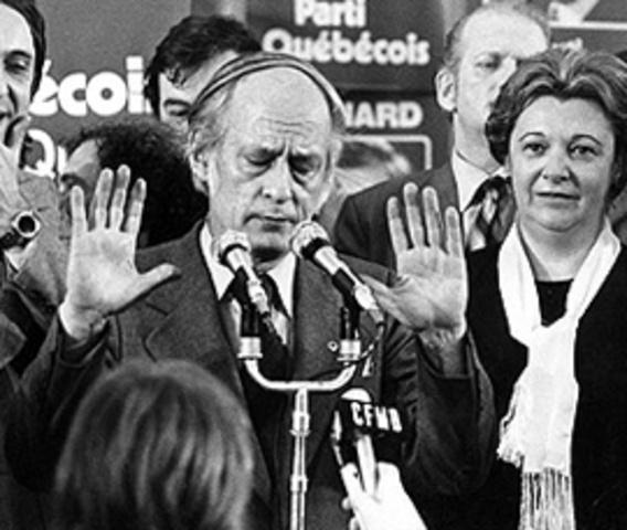 Parti Québécois comes into power