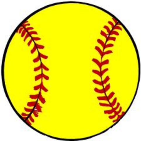 the day my sister played her first game on varsity softball team